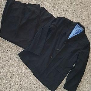 George black pantsuit suit blazer size 13 14